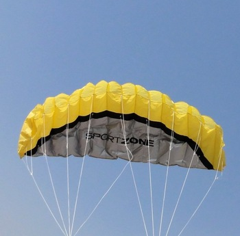free shipping+yellow 250 cm soft power kite ,easy to fly and control