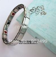 stainless steel FIR germanium bracelet magnetic bracelet 100pcs/lot
