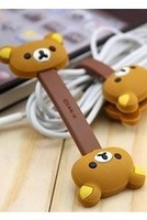 Free shipping Rilakkuma Bear Button Cable Winder for iPhone ipod --Christmas Gift Novelty Toy