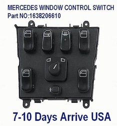 MASTER WINDOW CONTROL SWITCH For MERCEDES ML320 ML430 ML55 Part NO:1638206610 EXPRESS Ship(China (Mainland))