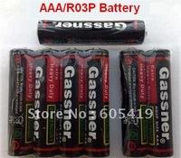 100% Fresh, Hot!-3000pcs/Lot, AAA R03P Super heavy duty batteries 42 minutes, 1.5v Carbon zinc battery, ISO9001 & RoHS passed
