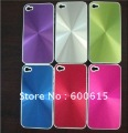 Aluminium metal hard case back cover For iPhone 4 4S free shipping 10pcs/lot  8 colors available