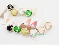 Korean jewelry - earrings letter G,NN-002242  ,Stud Earrings,hot earring,nice earring,free shipping