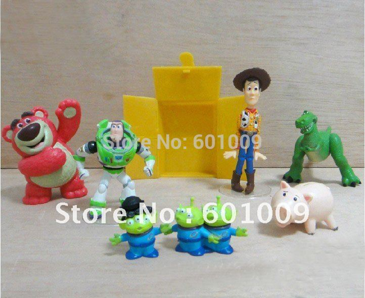 Free shipping High Quality PVC 5 pcs Toy Story 3 Woody Jessie Buzz Figures Set New Wholesale And Retail