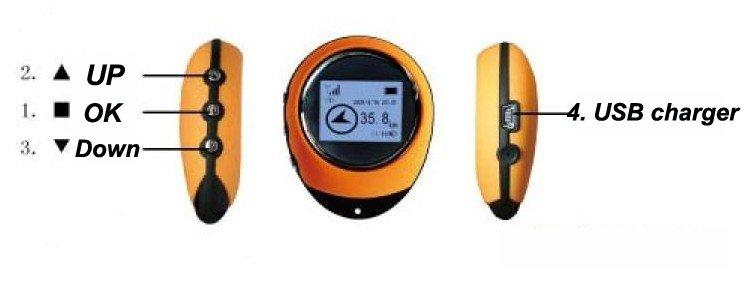 1.44 LCD screen Handheld Mini GPS tracking system free shipping pg-03(China (Mainland))
