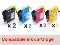 8 pcs New Compatible ink cartridge for Brother Printer DCP-J125/J315W MFC-J220 LC39/LC985