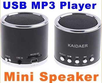 Best price 50pcs/lot free shipping mini mp3 box speaker player