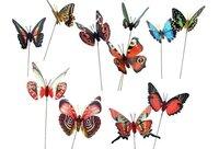 Butterfly Flower Stick Flower Stake Wedding Decoration Garden Decoration  20pcs/lot
