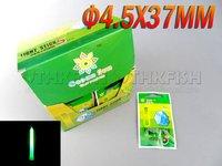 Free EMS! 1000pcs Lot  (1BOX=50Bags=250Pcs) Dia:4.5X37mm Fishing Lighting Stick Wand Green Colour Glow Stick
