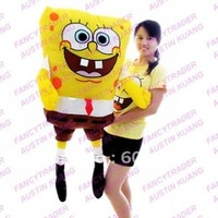 New Huge 47 inches/120 cm XXL Size Giant Plush Stuffed Spongebob Stuffed Sponge Bob Free Shipping FT90024