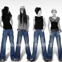 Wide Leg Jeans Pants Cotton female not significant hip