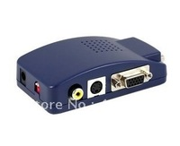 PC to TV,VGA to AV,S-Video Converter Adapter Switch Box / pc to tv converter