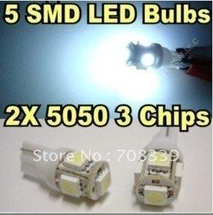 T10 5-smd Light Bulbs 12V - For Car, Models and Bikes led lamp