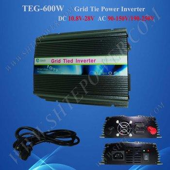 Free shipping 600w Grid Tie Solar Inverters DC 10.8v~28v to AC 230v