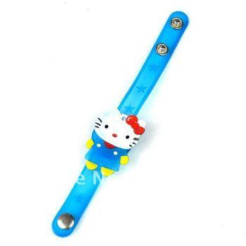5pcs Flashing Lights Toy Plastic Watch Hello Kitty #2407