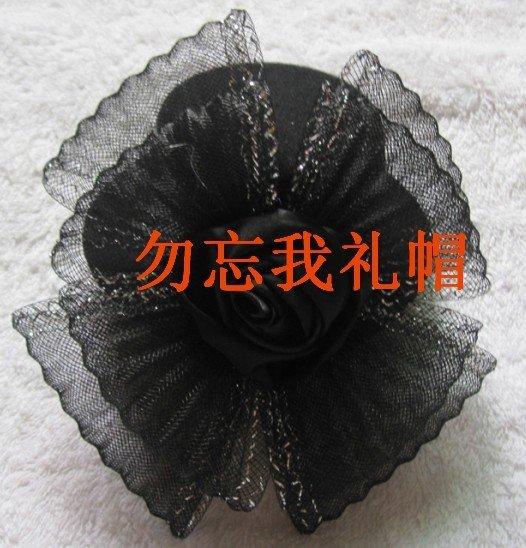 Free shipping Hair fascinator hat,feather fascinator veil,fancy fascinator,Halloween/Christmas party fascinators(China (Mainland))