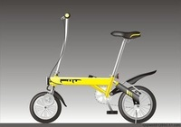 14'' Folding electric bike,9.5KG,Magnetic move e-bike,easy holding for bus/subway,DHL/EMS Free-factory wholesal