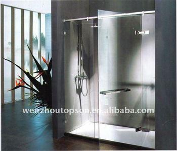 Free shipping+Pivot shower door&Hinged shower door full set hardware