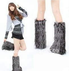 EMS freeshipping 40cm fur leg 12designs mix fur legging Leg warmers shoe sheath,sockers,stockings,fashion clothes accessory(China (Mainland))