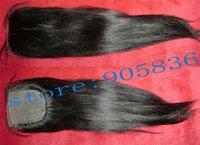 "silk base black light yaki indian  remy  hair  extension 4""*4"""