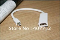 10pcs/lot Mini DP Display Port to HDMI Adapter Cable for  Mac Male to Female  Free Shipping