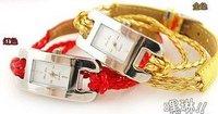 2011 free shipping factory direct supply Fashion leather Bracelet quartz watch, women's watch