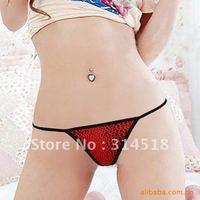 Promotion Wholesale 12 pcs/lot-LEOPARD colourful cotton women panties,sexy T-shaped pants, 1-014