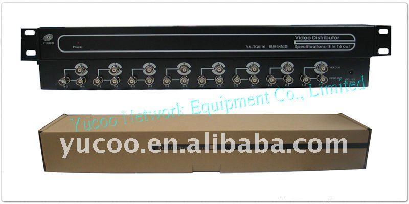 (YK-TG8-16) 8 Input 16 Output BNC CCTV Camera video distribution system(China (Mainland))