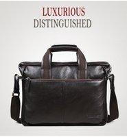 Free shipping.man geniune lether bag.fashion handbag.best briefcase