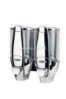 Hi-Q European style Twins Chrome Soap Dispenser For Home /Star Hotal Manual Double Shower Shampoo Soap dispensers TS020C