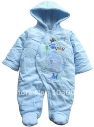 Sky blue winter / clothing / baby / coveralls / cotton / Romper / climbing clothes free shipping(China (Mainland))
