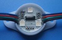 DC12V WS2801 LED pixel module,3pcs 5050 SMD RGB+WS2801IC,40pcs a string