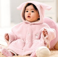 pink white bunny and rabbit Baby sweaters/Girl's Coat for WINTER