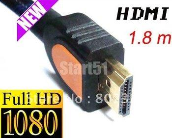 Wholesale best price 10pcs/lot NEW PREMIUM HDMI GOLD CABLE For PS3 HDTV 1.3 1080P/1.8m