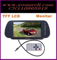 "Car Monitor 7"" Color TFT LCD Car Rearview Monitor SD USB MP5 FM Transmitter Car video free shipping"