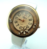 PN935 promotion Free Shipping Wholesale fashion crystal wrist watch women leather quartz watch