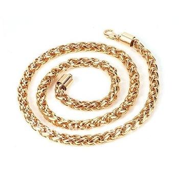 fashion necklace jewrlry 610mm 92.4g 18k yellow gold filled chain necklace jewelry jewellry chain necklace gift jewelry