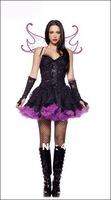 Free shipping fancy lady sexy costume latex fantasy halloween costumes for women sexy dress