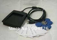 FREE Shipping! USB 125KHz EM4100 RFID Proximity Reader + 5 Cards + 5 Key Tags