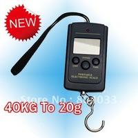 5pcs/lot Durable Pocket Scale 20g-40Kg, Digital Electric Hanging Luggage Fishing Weight Scale, LCD Display, Free Shipping