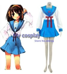 Anime Haruhi Suzumiya Cosplay - Haruhi Suzumiya Cosplay Costume For Female Cosplay Free shipping(China (Mainland))