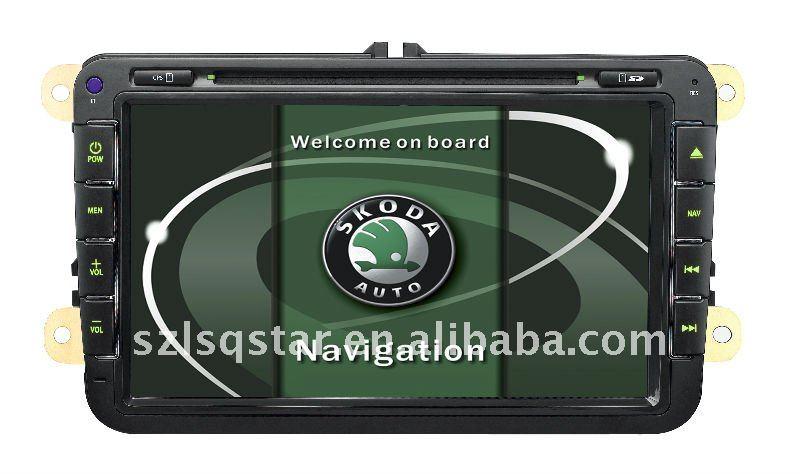Car DVD Player GPS Bluetooth ipod RDS Digital Panel for VolksWagen SkodaJetta,Sagitar,Caddy,Touran,Magotan,Golf5\6,TST-7609(China (Mainland))