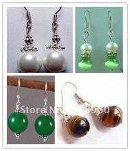 Wholesale fashion jewelry New beautiful Tibetan silver earrings 20pc/lot #04(China (Mainland))