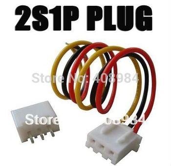 20pair / lot  2S1P RC lipo battery balance charger plug 7.4v 2sIp