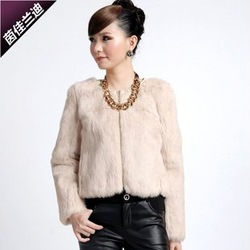 free shipping, 2011 winter new, whole sale, hot,M/L/XL, luxurious beaver rabbit hair coat(China (Mainland))