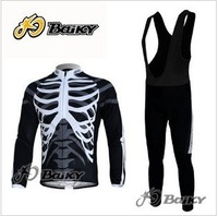 Free shipping 2011 new NW team winter thermal Fleece cycling long sleeve jersey+bib pants bike wear/sports clothes