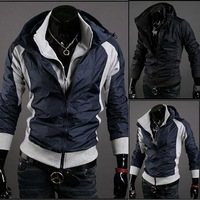 Stylish Trendy Zip Up  Striped Handsome Cool Mens Jackets Sale #MS029
