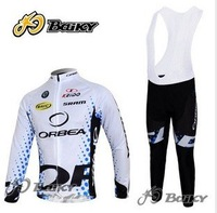 2011 new  ORBEA  team winter thermal Fleece cycling long sleeve jersey+bib pants sports wear
