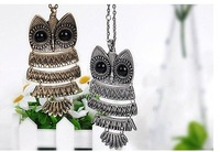 50pcsCute single grows necklace sweater chain owl restoring ancient ways