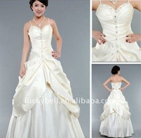 New style Hot sale Ball Gown Ruffle Spaghetti Strap Wedding dress